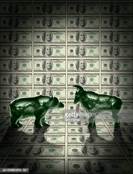 Bear and bull models against United States currency