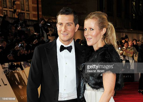 Bear Grylls and wife Shara Grylls attend the Royal World Premiere of 'Skyfall' at the Royal Albert Hall on October 23 2012 in London England