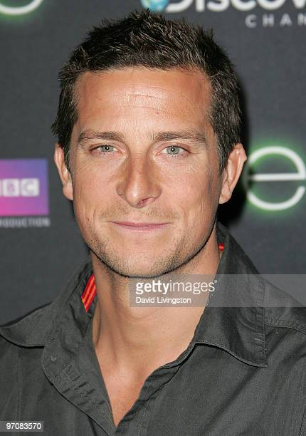 Bear Grylls attends the premiere screening of Discovery Channel's 'LIFE' at the Getty Center on February 25 2010 in Los Angeles California