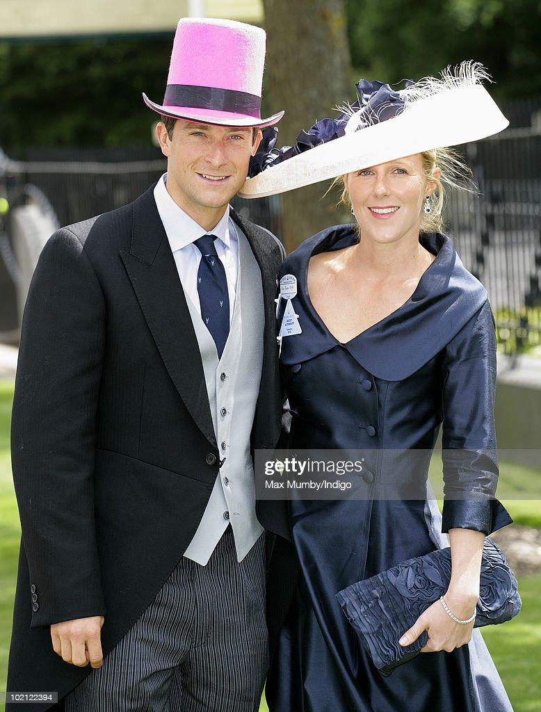 Bear Grylls wears a pink top hat as he attends day one of Royal Ascot at Ascot Racecourse on June 15, 2010 in Ascot, England.
