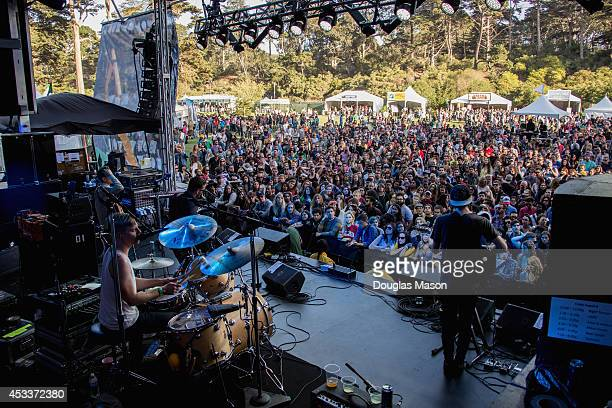 Bear Hands performs during the Outside Lands Music and Arts Festival at Golden Gate Park on August 8 2014 in San Francisco California