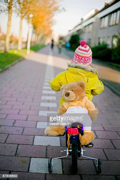 Bear on bike toddler