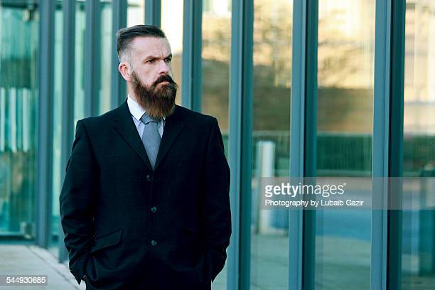 Bearded Businessman outside the office