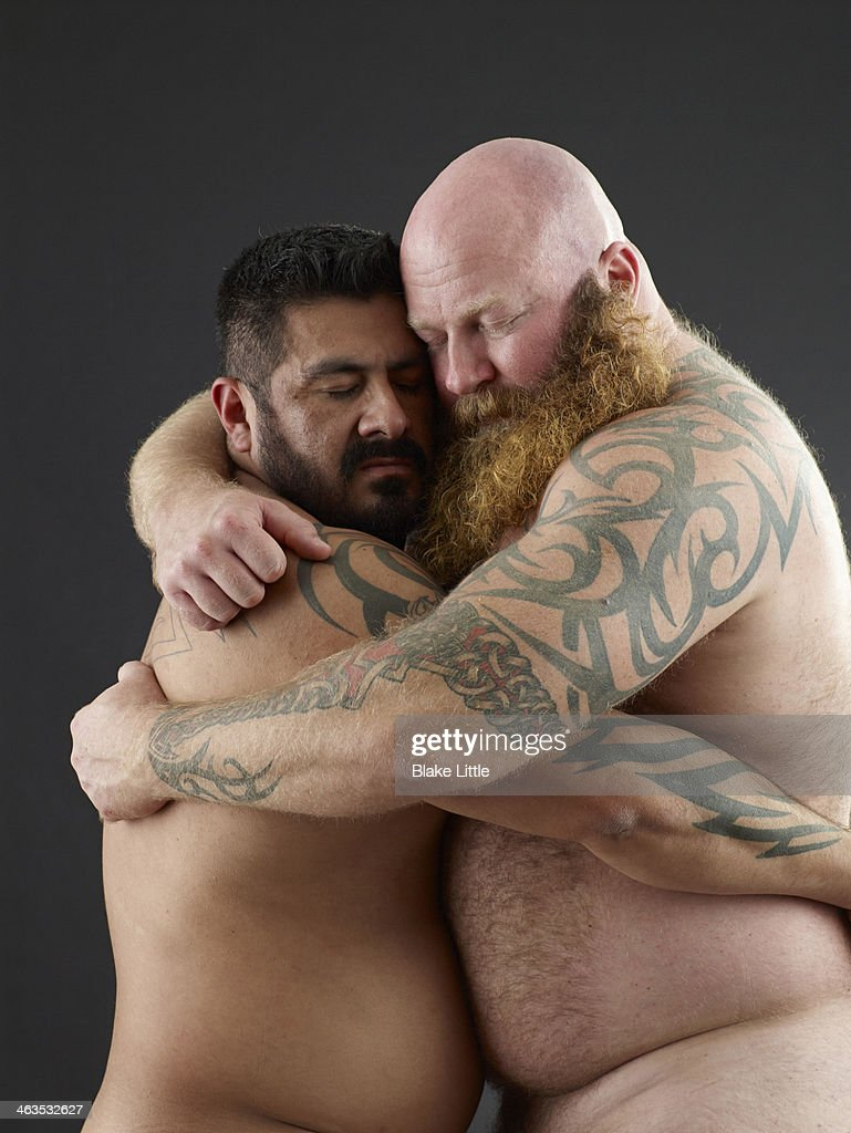 Bearded Couple Embracing : Foto de stock
