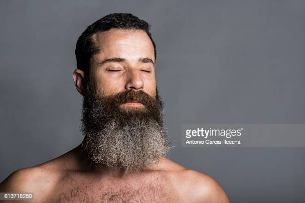 Bearded man in peace