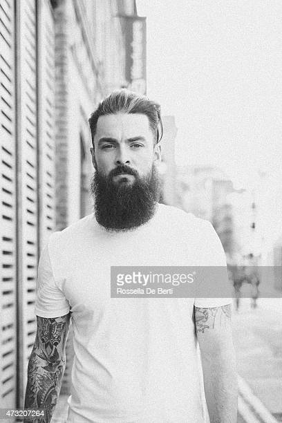 Bearded Man Portrait In A City Street