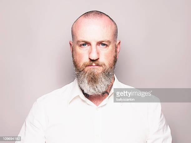 Bearded Man Studio Portrait.