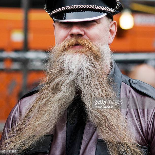 CONTENT] Bearded man with large forked beard at the annual Up Your Alley Fair on Dore Alley Dore Alley Up Your Alley Fair is an annual BDSM / Fetish...