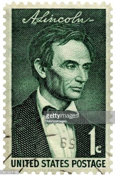 Beardless Abraham Lincoln Francobollo postale