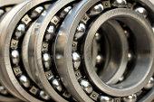 industrial bearings in a row
