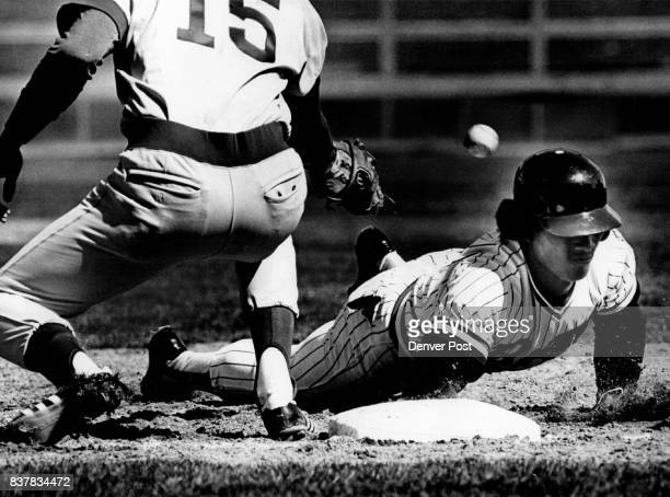 Bears Bombo Rivera Dives Back to First Base in Second Inning But on the next pitch he stole second base Wichita first baseman is Scot Thompson...