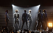Beast perform on stage during their World Tour 'Beautiful Show' on February 4 2012 in Seoul South Korea