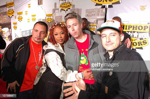 Beastie Boys and Da Brat during 2006 VH1 Hip Hop Honors Red Carpet at Hammerstein Ballroom in New York City New York United States