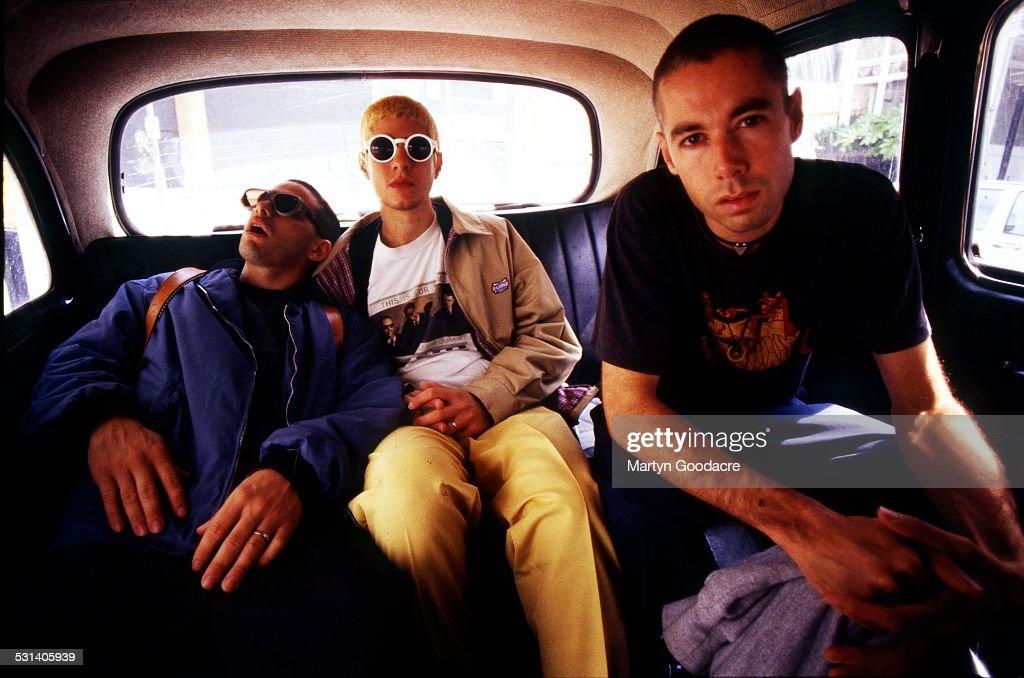 Beastie Boys group portrait London United Kingdom 1993 LR Adam Horovitz Mike Diamond Adam Yauch