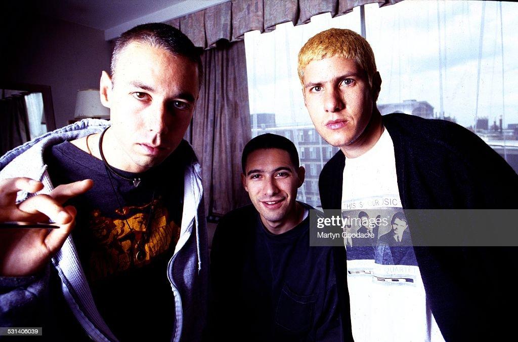 Beastie Boys group portrait London United Kingdom 1993 LR Adam Yauch Adam Horovitz Mike Diamond
