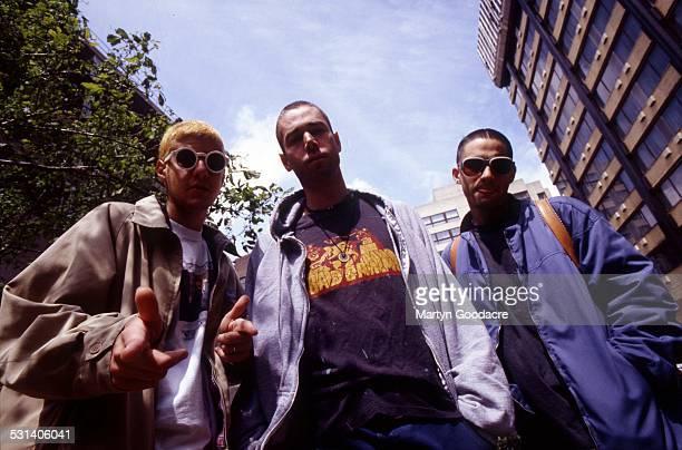 Beastie Boys group portrait London United Kingdom 1993 LR Mike Diamond Adam Yauch Adam Horovitz