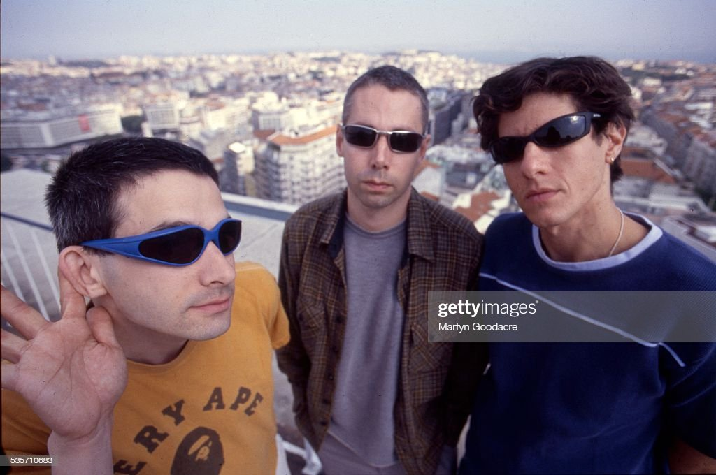 Beastie Boys group portrait Portugal 1998 L to R Ad Rock MCA and Mike D