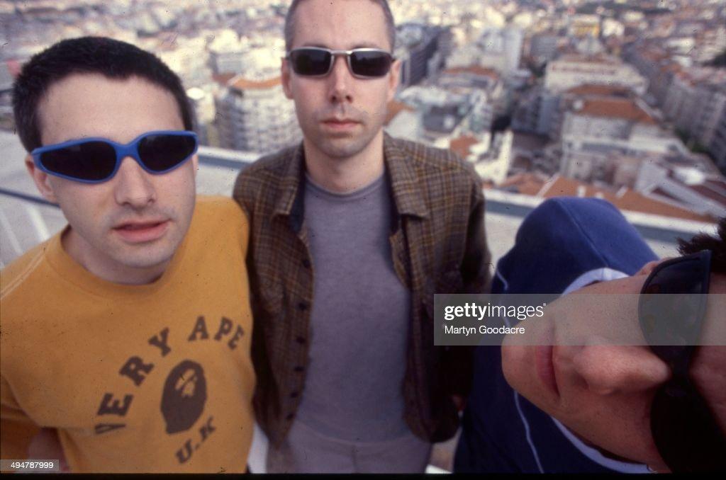 Beastie Boys group portrait Portugal 1998 LR Ad Rock Adam Yauch and Mike Diamond
