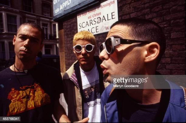 Beastie Boys group portrait United Kingdom 1994 LR Adam Yauch Adam Horovitz and Mike Diamond