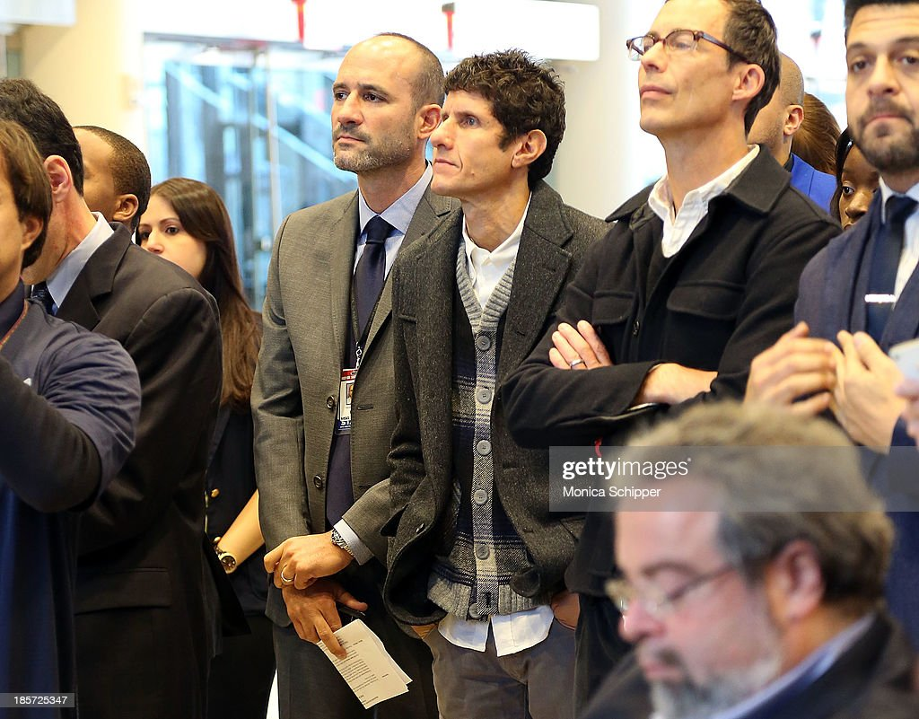 Beastie Boys' Mike D and actor Tom Cavanagh attend the unveiling of Madison Square Garden on October 24, 2013 in New York City.