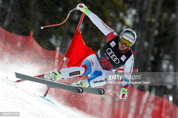 Beat Feuz of Switzerland competes during the Audi FIS Alpine Ski World Cup Men's Downhill on December 5 2014 in Beaver Creek Colorado
