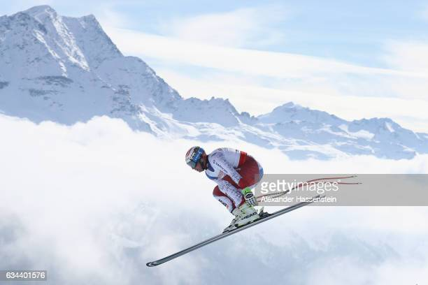 Beat Feuz of Switzerland competes in the Men's Downhill Training on February 9 2017 in St Moritz Switzerland