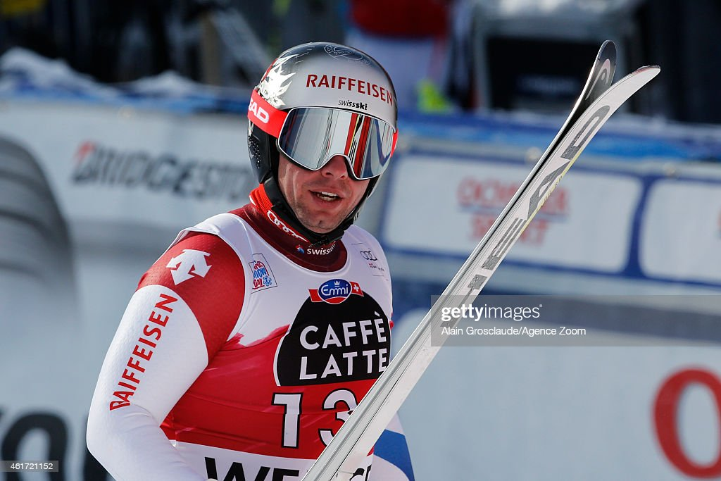 <a gi-track='captionPersonalityLinkClicked' href=/galleries/search?phrase=Beat+Feuz&family=editorial&specificpeople=4193254 ng-click='$event.stopPropagation()'>Beat Feuz</a> of Switzerland takes 2nd place during the Audi FIS Alpine Ski World Cup Men's Downhill on January 18, 2015 in Wengen, Switzerland.