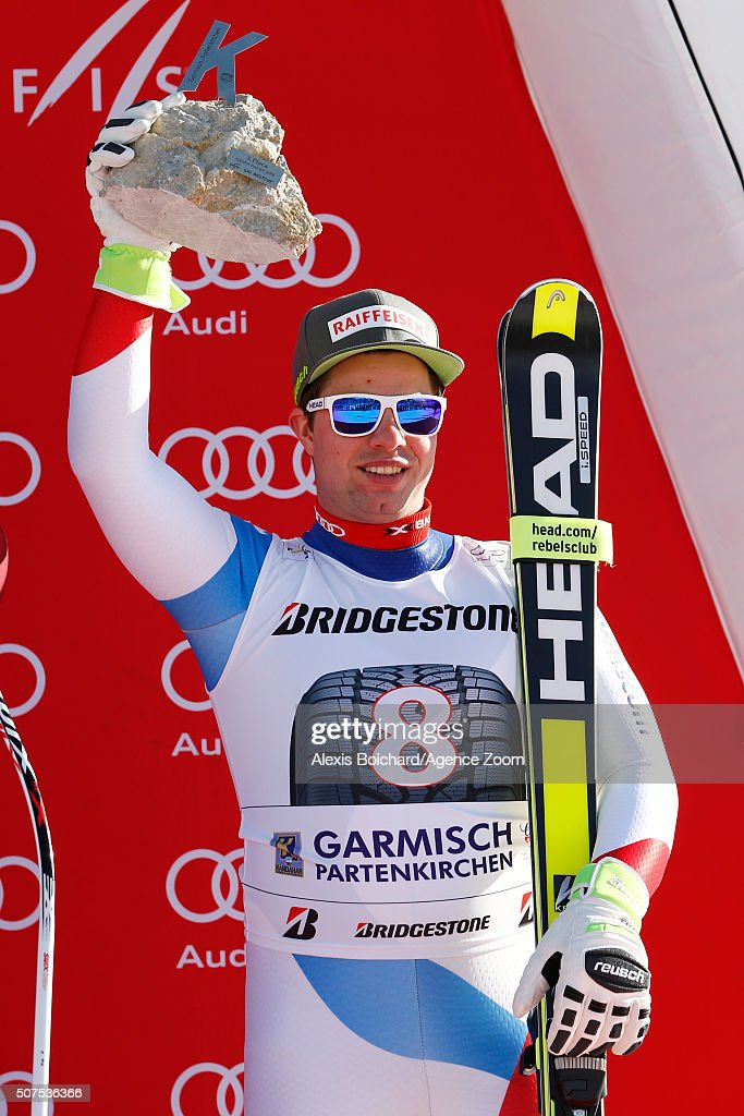 <a gi-track='captionPersonalityLinkClicked' href=/galleries/search?phrase=Beat+Feuz&family=editorial&specificpeople=4193254 ng-click='$event.stopPropagation()'>Beat Feuz</a> of Switzerland takes 3rd place Alpine Ski World Cup Men's Downhill on January 30, 2016 in Garmisch-Partenkirchen, Germany.