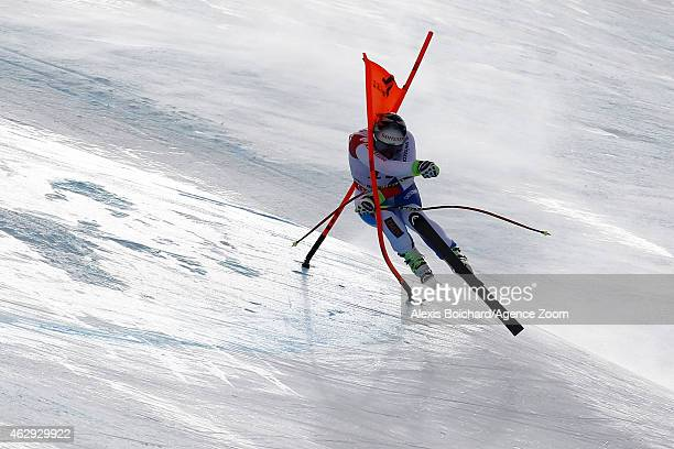 Beat Feuz of Switzerland wins the bronze medal during the FIS Alpine World Ski Championships Men's Downhill on February 7 2015 in Beaver Creek...