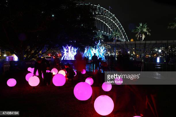 Beat installation is seen illuminated as part of the Vivid Sydney Festival on May 22 2015 in Sydney Australia Vivid Sydney is an annual festival that...