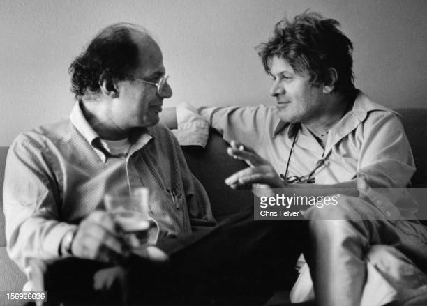 Beat poets Allen Ginsberg and Gregory Corso converse late twentieth century