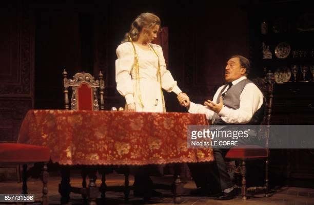 Beata Nilska et JeanMarc Thibault dans la piece La Fille a la Trompette de Jacques Rampal le 20 fevrier 1994 a Paris France