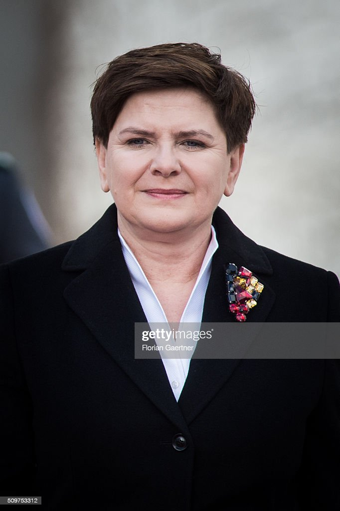 Beata Szydlo, Prime Minister of Poland, attends German Chancellor Angela Merkel (not pictured) on February 12, 2016 in Berlin.