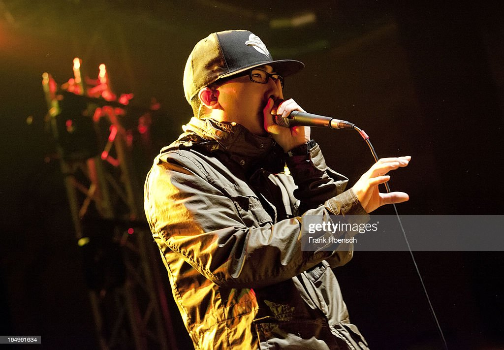 Beatboxer KRNFX performs live in support of Walk Off The Earth during a concert at the Huxleys on March 29, 2013 in Berlin, Germany.