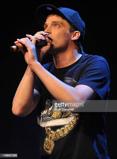 Beatboxer Tom Thum performs at the Underbelly Press Launch at the Edinburgh Festival Fringe on August 1 2012 in Edinburgh Scotland