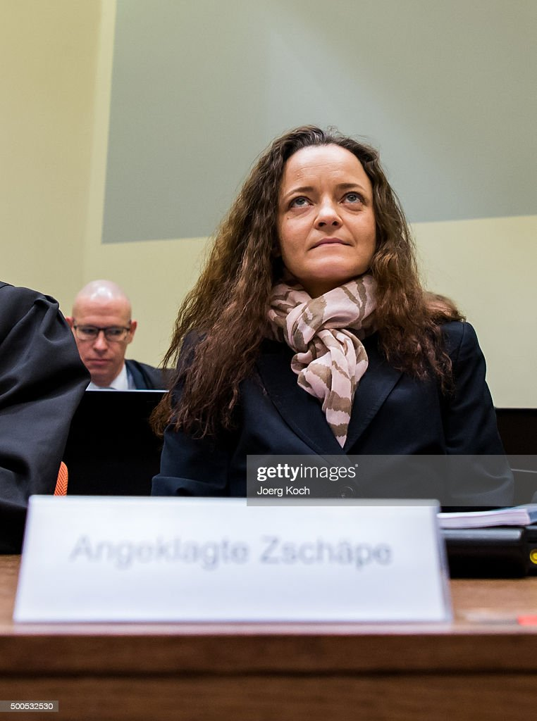 <a gi-track='captionPersonalityLinkClicked' href=/galleries/search?phrase=Beate+Zschaepe&family=editorial&specificpeople=8630982 ng-click='$event.stopPropagation()'>Beate Zschaepe</a>, the main defendant in the NSU neo-Nazi murder trial waits for day 249 of the trial at the Oberlandgericht courthouse on December 9, 2015 in Munich, Germany. Zschaepe is scheduled to finally testify today via her lawyer and hence break her silence that she has so far maintained throughout the trial. She and four others are accused of assisting neo-Nazis Uwe Boehnardt and Uwe Mundlos in a killing spree over an eight-year period of nine immigrants and one policewoman.