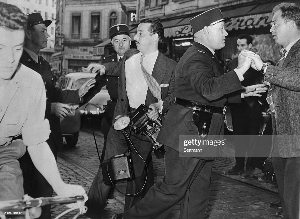 Beaten and manhandled by French gendarmes Paris France An International News Photos cameraman was clubbed by French police and had his camera smashed...