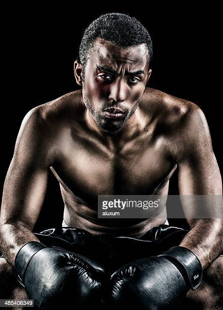 Beaten up boxer