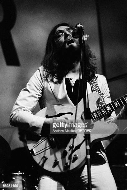 Beatle John Lennon performing with the newlyformed Plastic Ono Band at the Lyceum Theatre London 1969