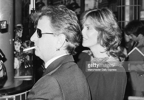 Beatle Ringo Starr attending the premiere of 'Wild Geese' with his wife actress Barbara Bach May 1985