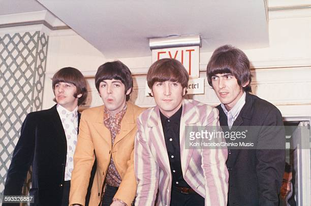 Beatles at Press conference at Warwick Hotel NYC August 22 1966