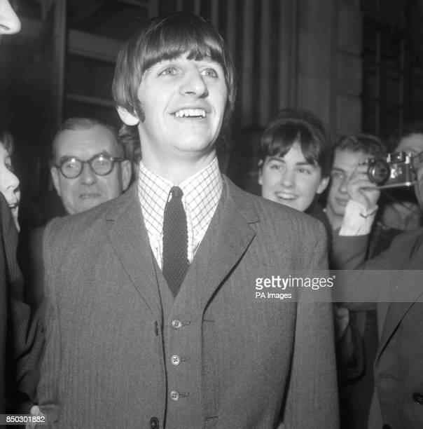 Beatles drummer Ringo Starr pictured when he left University College Hospital in London after the removal of his tonsils This event made a telephone...
