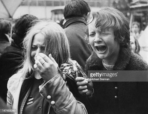 Beatles fans in St John's Wood London express their disappointment at the wedding of Paul McCartney to photographer Linda Eastman 12th March 1969