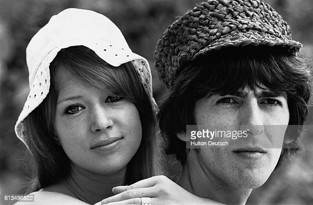 Beatles guitarist and singer George Harrison with his wife Patti Boyd