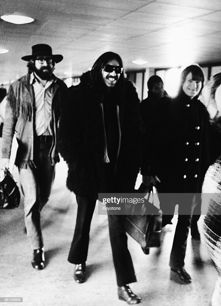 Beatles guitarist George Harrison arriving in Copenhagen where he is visiting American singers Delaney and Bonnie on tour, 10th December 1969.