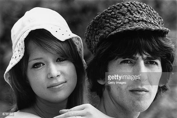 Beatles guitarist George Harrison honeymoons with his wife Patti Boyd February 14 1966 in Barbados Harrison died in Los Angeles after a long battle...