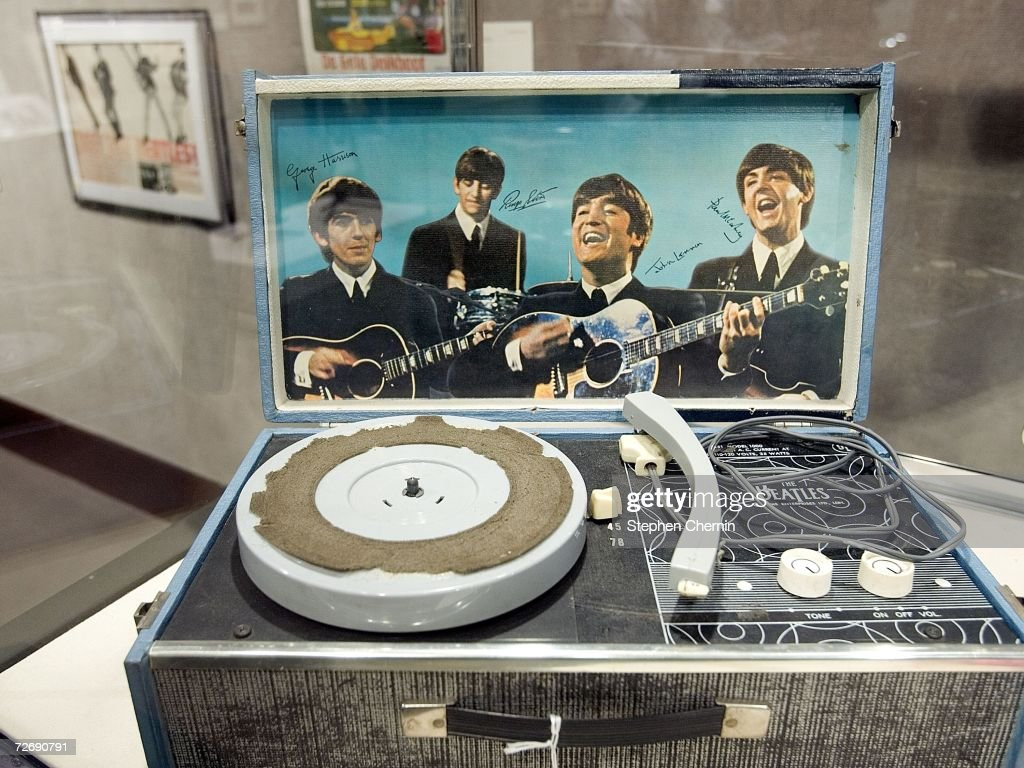 A Beatles record player circa 1964 valued between $3,000 and $5,000 is displayed at Christie's, December 1, 2006 in New York Memorabilia from some of the most influential musicians will be on the auction block on December 4.