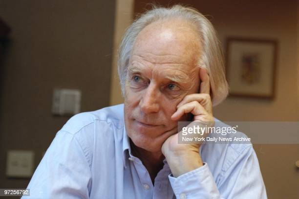 Beatles record producer George Martin in his hotel room at the Four Seasons
