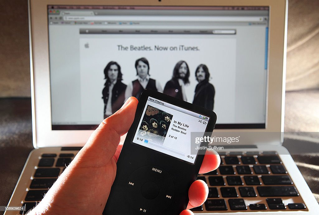 A Beatles song plays on an iPod November 16, 2010 in San Anselmo, California. Apple has struck a deal with the record label EMI and the Beatles' company Apple Corps to sell digital downloads of the legendary rock band's music on iTunes.