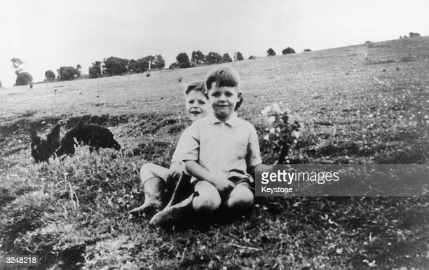 Beatletobe Paul McCartney at the age of six in front with his eightyearold brother Mike